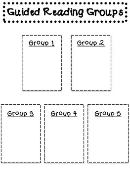 Guided Reading - Teacher Notes