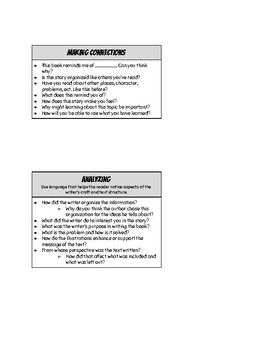 Guided Reading Teacher Prompts