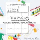 Guided Reading Teacher Toolkit