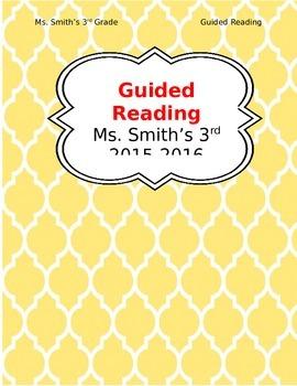 Guided Reading Teacher's Binder