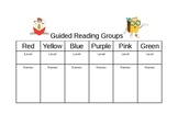 Guided Reading Groups Template