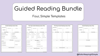 Guided Reading Template Bundle