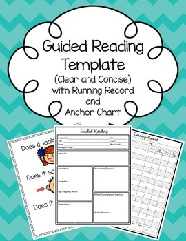 Editable Guided Reading Template (with Running Record & Anchor Chart)