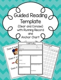 Editable Guided Reading Template (with Running Record & An