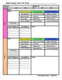 Guided Reading Template & Conference Tracker