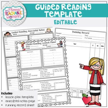 Guided Reading Template and Anecdotal Notes Template
