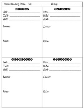 Guided Reading Templates {2 FREE Versions}