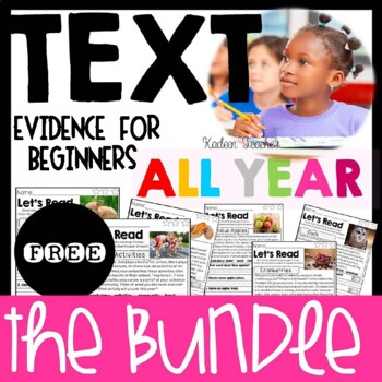 Guided Reading Text Evidence Passages Free