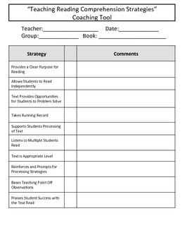 Guided Reading Text Reading Coaching Tool