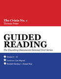 Guided Reading: The Crisis No. 1 (Abridged), Thomas Paine