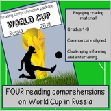 Reading comprehension passages and questions: The Soccer World Cup in 2018