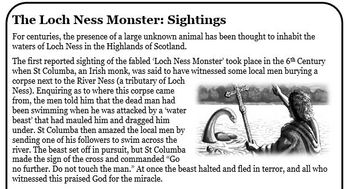 Guided Reading: The Loch Ness Monster