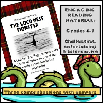 Reading Comprehension: The Loch Ness Monster. Three activities.