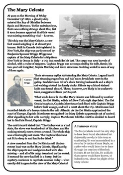Guided Reading: The Mary Celeste