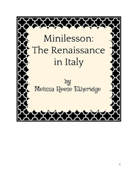 Guided Reading: The Renaissance in Italy