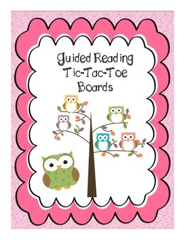 Guided Reading Tic-Tac-Toe Board Freebie