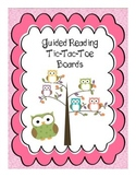 Guided Reading Tic-Tac-Toe Boards