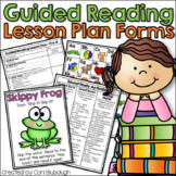 Guided Reading Lesson Plan Forms and Toolkit