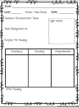 Guided Reading Toolkit (Lesson Plan Templates, Graphic Organizers, References)