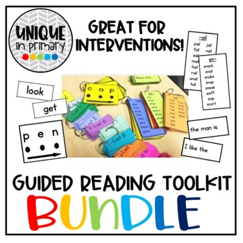 Guided Reading Toolkit BUNDLE- Phrase Cards, Fluency Cards, Sight Words, & MORE