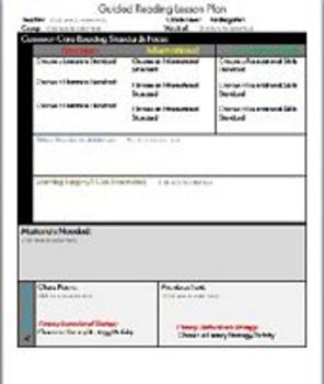 Guided Reading Toolkit LESSON PLAN TEMPLATE Grade 3
