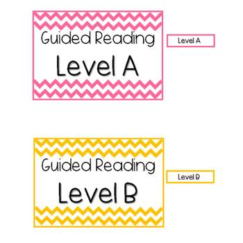 Guided Reading Toolkit Labels (Levels A-L)