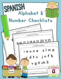 Guided Reading Tools: Alphabet and Number Identification Checklists (Spanish)
