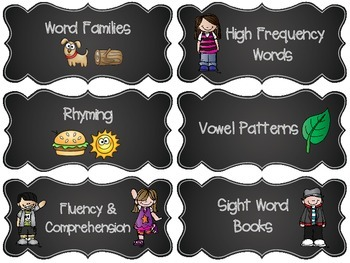 Guided Reading Tub Labels for Group and Material Organization - EDITABLE