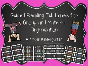 Guided Reading Tub Labels for Group and Material Organizat