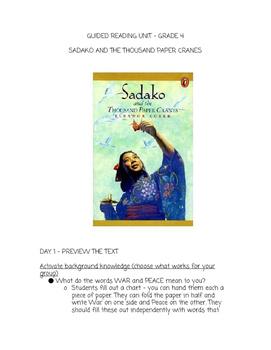 Guided Reading Unit - Sadako and The Thousand Paper Cranes