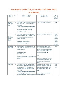Guided Reading Using Series Books:  Gus From Pioneer Valley