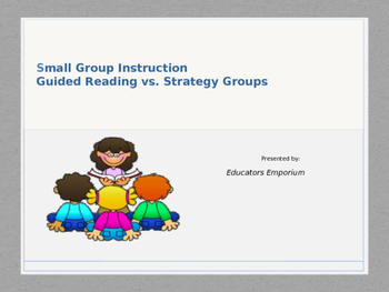 Guided Reading VS. Guided Strategy