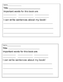 Guided Reading Vocabulary Preview Form