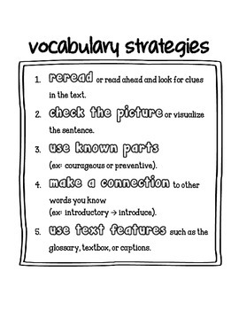 Guided Reading Vocabulary for Fluent Readers