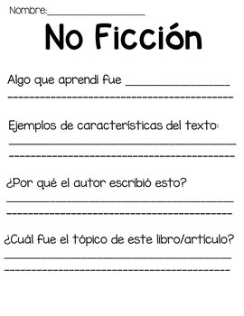 Guided Reading Week 26 in Spanish