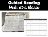 Guided Reading Week at a Glance