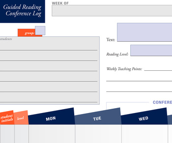 Guided Reading Weekly Conference Log