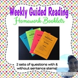 Guided Reading Weekly Homework