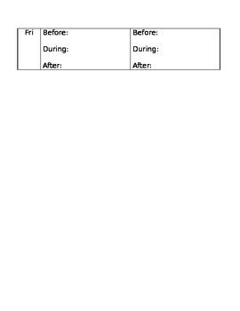 Guided Reading Weekly Planner