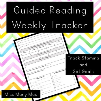 Guided Reading Weekly Tracker