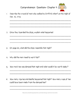 Guided Reading: What Was the Boston Tea Party? Common Core, No Prep, Printables