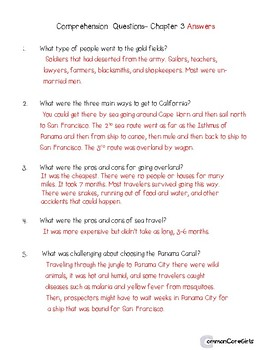 Guided Reading: What Was the Gold Rush? Common Core, No Prep, Printables