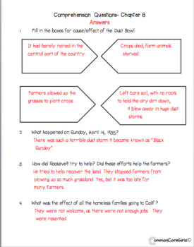Guided Reading: What Was the Great Depression? Common Core, No Prep, Printables