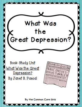 Guided Reading: What was the Great Depression? Common Core