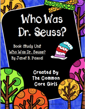 Guided Reading: Who Was Dr. Seuss? Common Core, No Prep, Printables
