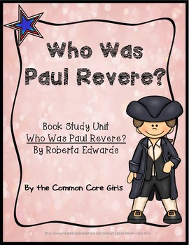 Guided Reading: Who Was Paul Revere? Common Core, No Prep,