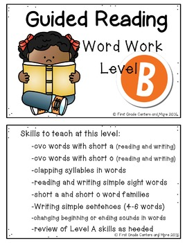 Guided Reading Word Work Level B
