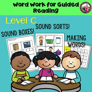 Guided Reading Word Work for Students Reading on a Level C 3/4
