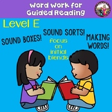 Guided Reading Word Work for Students Reading on a Level E 7/8