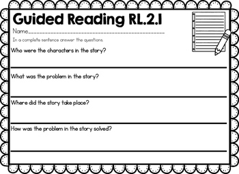 Guided Reading Worksheets 2nd Grade